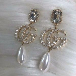 Gg gucci pearl earrings